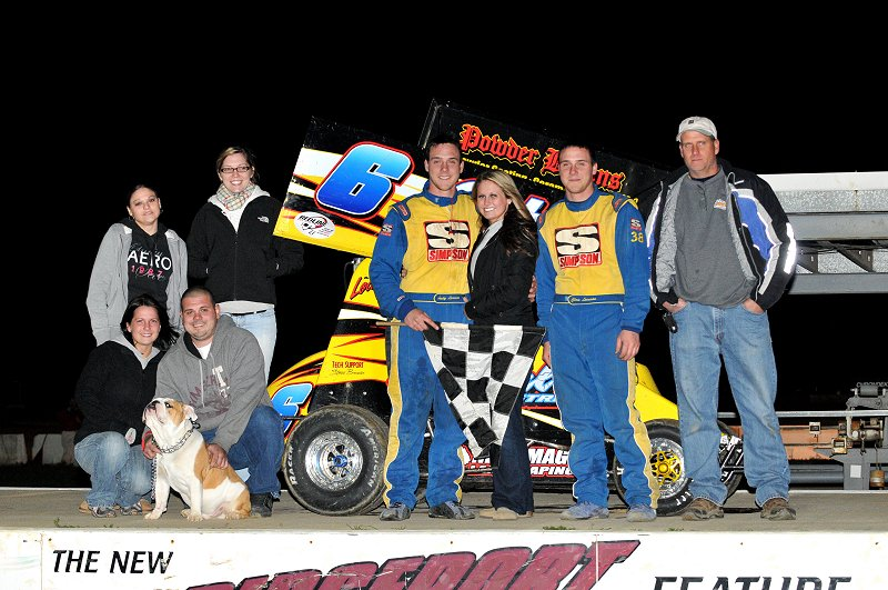 Andrew Locuson held off Shaun Ratchford to take the 270cc feature.