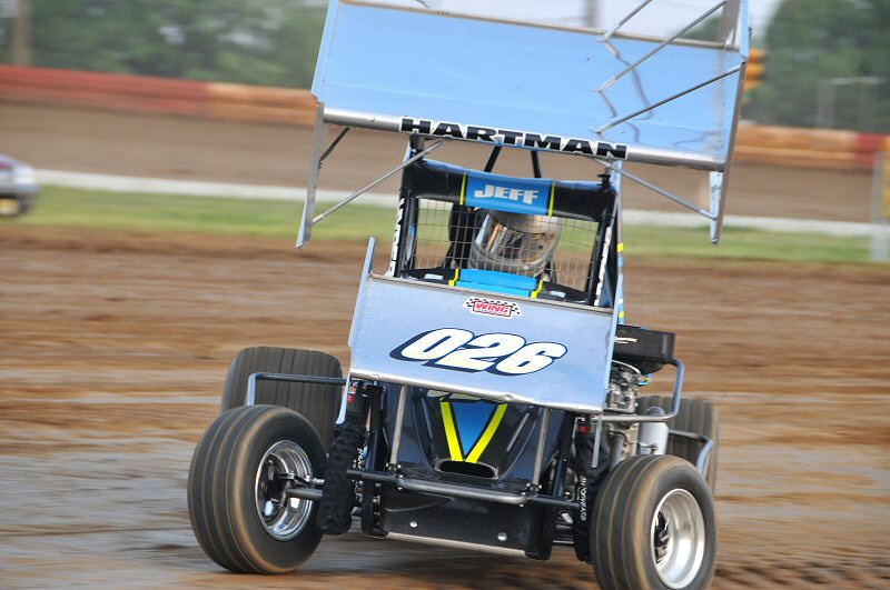 The Hartman brothers stole the show Friday night, winning all three micro-sprint features.