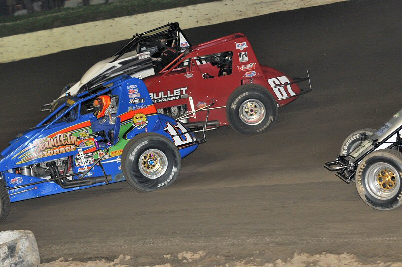 USAC National Sprint Cars returned to Grandview Speedway on Tuesday.