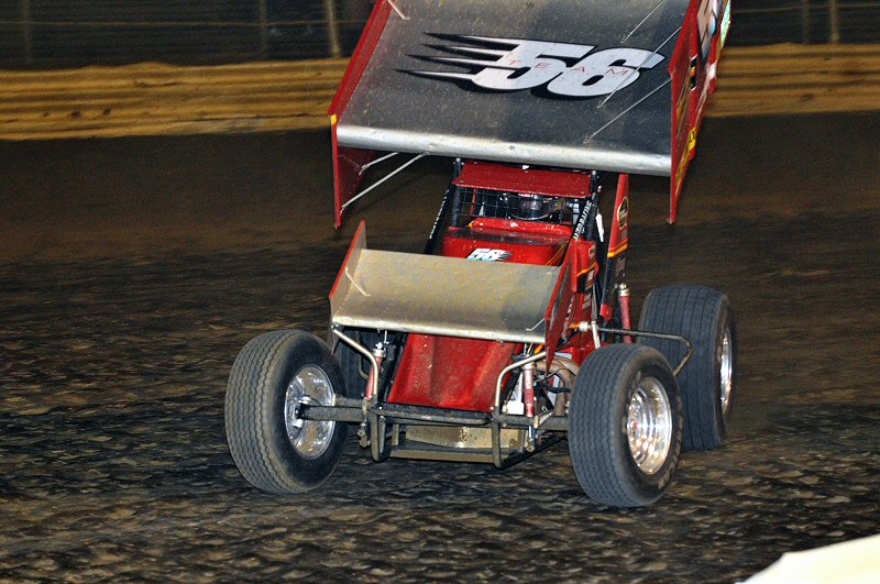 Randy West held off a last-lap charge by JJ Grasso to win the URC race.